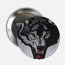 """Funny Lone wolf 2.25"""" Button"""