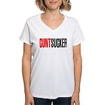 CuntSucker Women's V-Neck T-Shirt