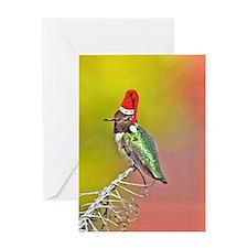 Ho Ho Ho Hummingbird III Greeting Card