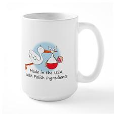 Stork Baby Poland USA Mug