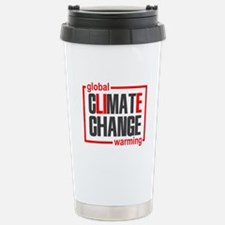 Climate Change Is A Lie Travel Mug
