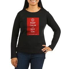 Sewing Mama Sew On Women's Long Sleeve Dark T-Shir