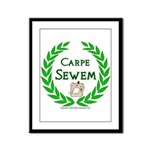 Carpe Sewem Framed Panel Print