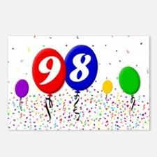 98th Birthday Postcards (Package of 8)