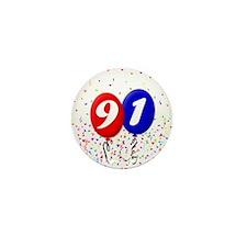 91st Birthday Mini Button