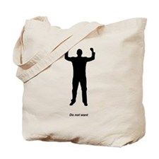 Do Not Want silhouette Tote Bag