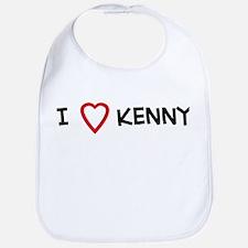 I Love Kenny Bib