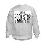 Rock Star In Marshall Islands Kids Sweatshirt