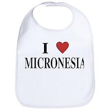 I Love Micronesia Bib
