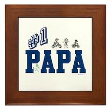 #1 Papa Framed Tile
