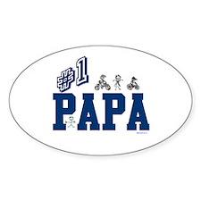 #1 Papa Oval Decal