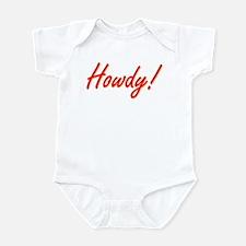 Positive Happy Cheerful HOWDY Infant Bodysuit