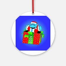 I Want A Hippopotamus For Christmas Ornament (Roun