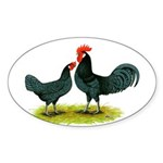 Andalusian Blue Oval Sticker (10 pk)