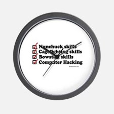 Skills Checklist ~  Wall Clock