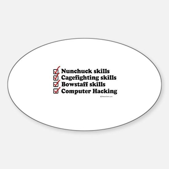 Skills Checklist ~ Oval Decal