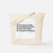 Skills Checklist ~  Tote Bag