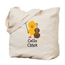 Cello Chick Tote Bag