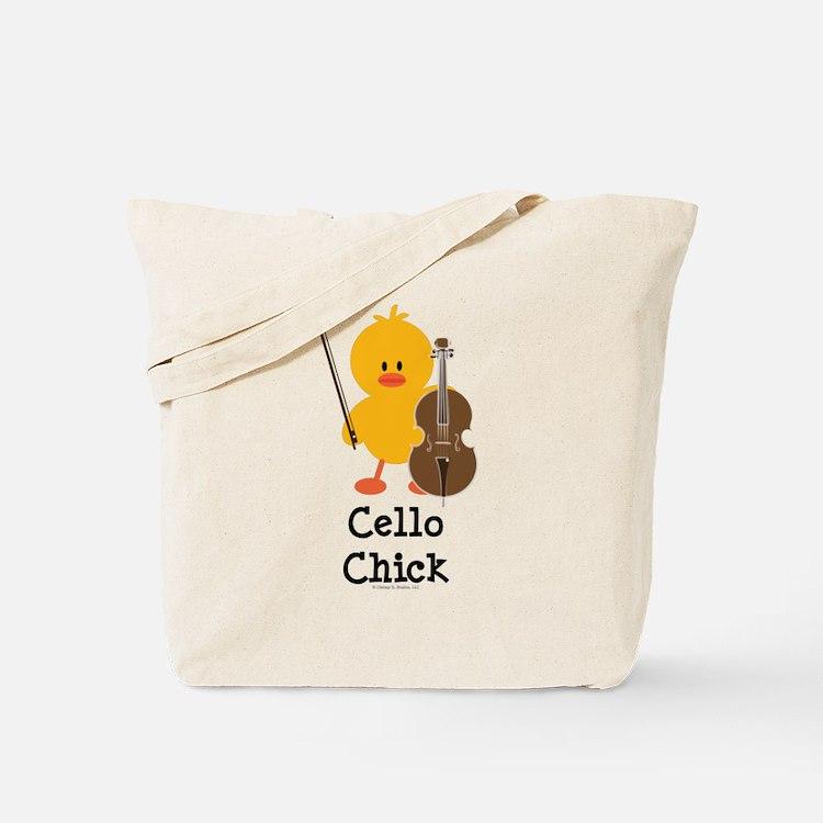 Cello Chick Tote Bag