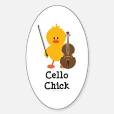 Cello Chick Oval Decal