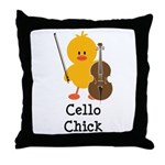 Cello Chick Throw Pillow