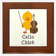 Cello Chick Framed Tile