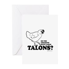Do the chickens have large talons? Greeting Cards