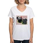 Cochin Rooster & Hen Women's V-Neck T-Shirt