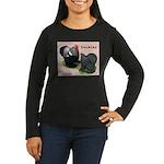 Cochin Rooster & Hen Women's Long Sleeve Dark T-Sh