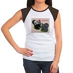 Cochin Rooster & Hen Women's Cap Sleeve T-Shir