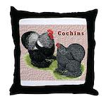 Cochin Rooster & Hen Throw Pillow