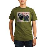 Cochin Rooster & Hen Organic Men's T-Shirt (dark)