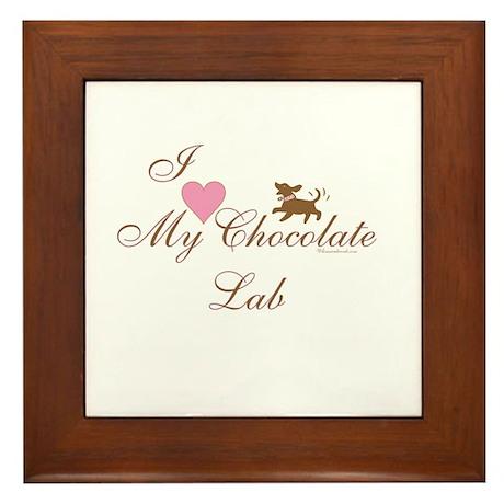 Chocolate Lab Framed Tile