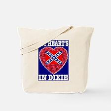 My Heart's In Dixie RWB Desig Tote Bag