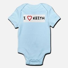 I Love KEITH Infant Creeper