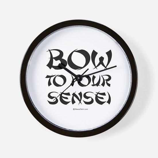 Bow to your sensei ~  Wall Clock