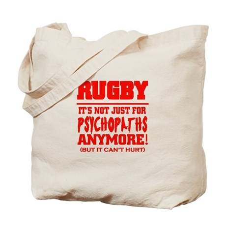 Rugby Psychopath Tote Bag
