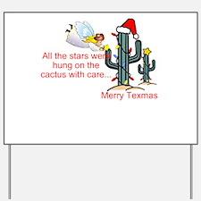 Christmas Cactus Yard Sign