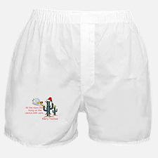 Christmas Cactus Boxer Shorts
