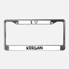 I Love Keegan License Plate Frame
