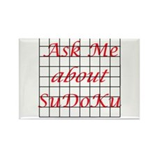Ask Me about Su Do Ku Rectangle Magnet (10 pack)