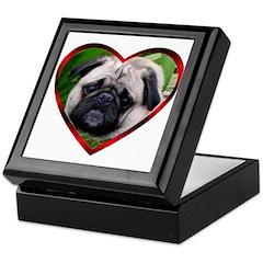 Love Pug Keepsake Box