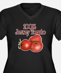 Tomatoes Women's Plus Size V-Neck Dark T-Shirt