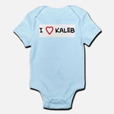 I Love Kaleb Infant Creeper