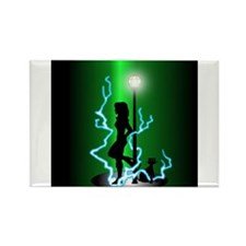Unique Lamppost Rectangle Magnet