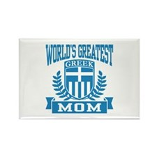 World's Greatest Greek Grandma Rectangle Magnet