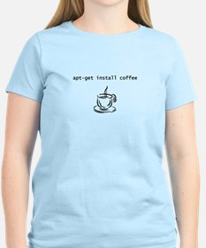 Geek shirt apt-get install coffee T-Shirt