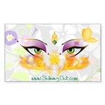 Belly Dance Shimmy Chic Sticker (Rectangle)