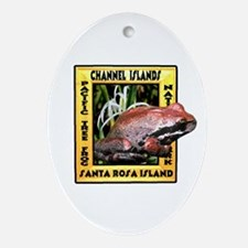 Channel Islands NP frog t-shi Oval Ornament