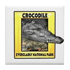 Everglades National Park Croc Tile Coaster